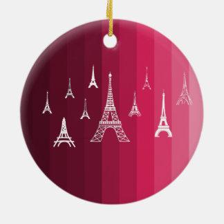 Paris in Pink Round Ceramic Decoration
