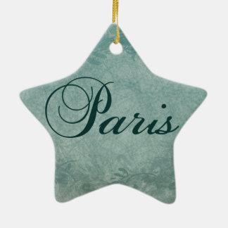 Paris in Spring Ceramic Star Decoration