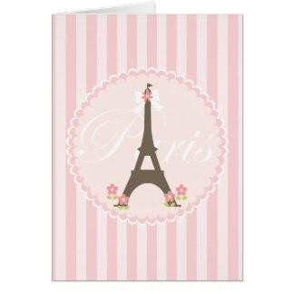Paris in Spring Girly Greeting Card