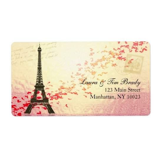 Paris in springtime with hearts