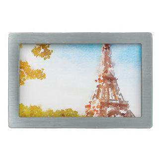 Paris in The Fall Belt Buckle