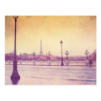 Paris in the Rain Postcard