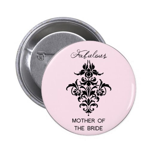 Paris Inspired Mother of the Bride Button