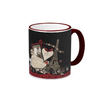 Paris Inspired Ringer Mug