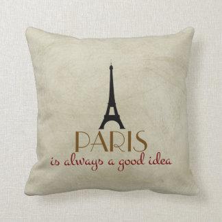 Paris is Always a Good Idea Cushion