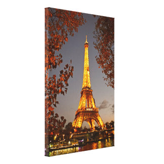 Paris is Always a Good Idea for a Nighttime Stroll Canvas Print