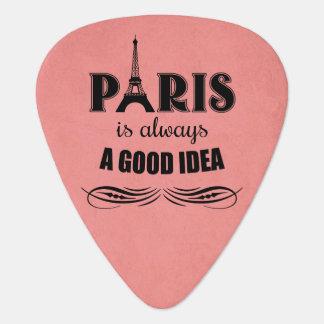 Paris is always a good idea plectrum