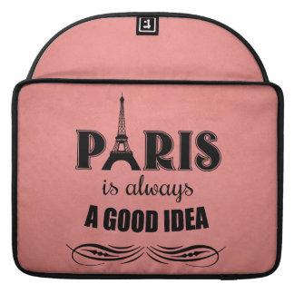 Paris is always a good idea sleeve for MacBook pro