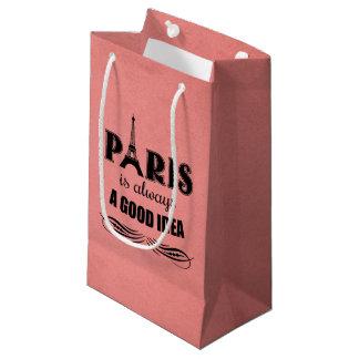 Paris is always a good idea small gift bag