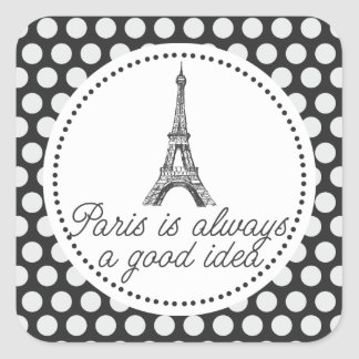Paris is always a good idea square sticker