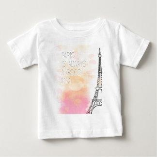 PARIS IS always good idea, watercolor Baby T-Shirt
