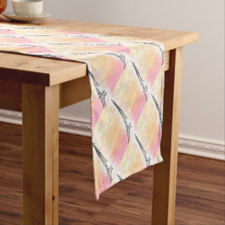 PARIS IS always good idea, watercolor Short Table Runner