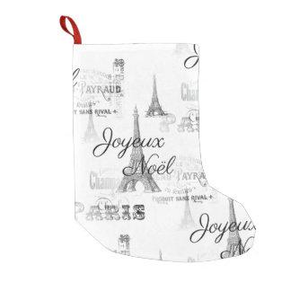 Paris Joyeux Noel Christmas Stocking