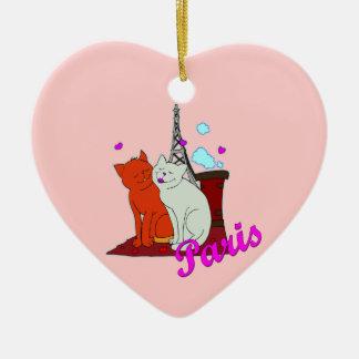 Paris Kitties Ornament