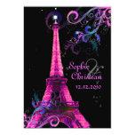 Paris La Nuit, eiffel tower wedding  invitations
