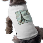 Paris La Tour Eiffel French Design Sleeveless Dog Shirt