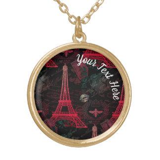 Paris: La Tour Eiffel Gold Plated Necklace