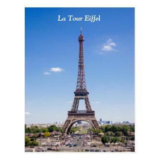 Paris La Tour Eiffel on clear blue sky photograph Postcard