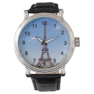 Paris La Tour Eiffel on clear blue sky photograph Watch