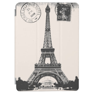 Paris La Tower Eiffel Vintage Postcard iPad Air Cover