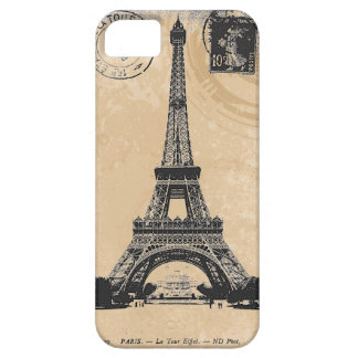 Paris La Tower Eiffel Vintage Postcard iPhone 5 Case