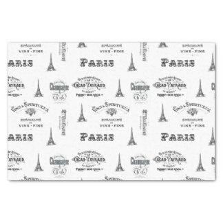Paris Label Collage Tissue Paper