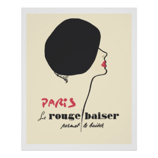 Paris - Le Rouge Baiser (The Red Kiss) Poster