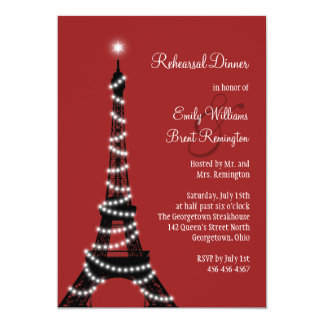 Paris Lights Rehearsal Dinner Invitation