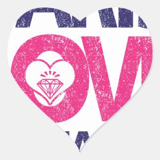 paris love heart sticker