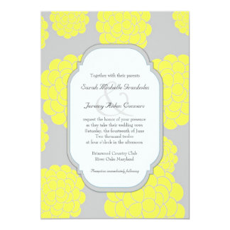 Paris Loves Yellow Flowers Affordable Wedding Card