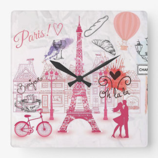 Paris magic square wall clock