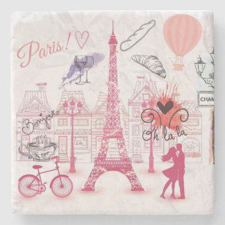 Paris magic stone coaster