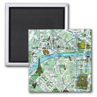 Paris Map Magnet