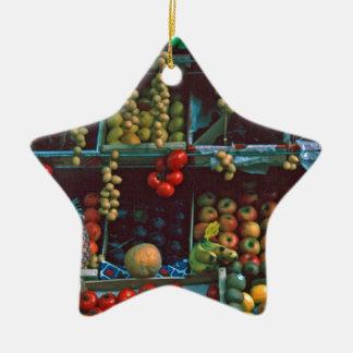 Paris Market Fruit Display TomWurl Ceramic Star Decoration
