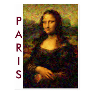 Paris Mona Lisa Postcard