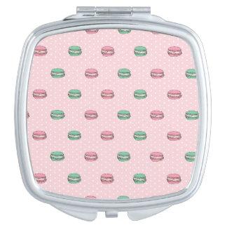 Paris Moon Macaron and polkadots Compact Mirror