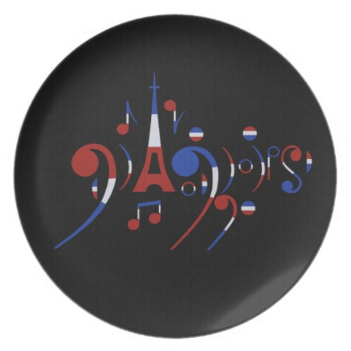 Paris Musical Notes Dinner Plates