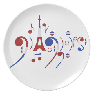Paris Musical Notes Dinner Plate