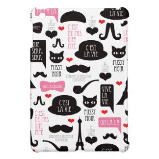 Paris mustache cat art ipad mini case