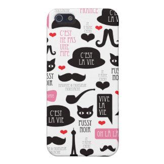 Paris mustache cat art iphone case iPhone 5/5S cover