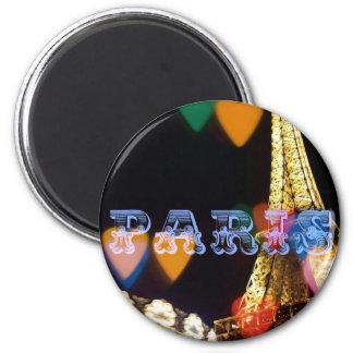 paris neon hearts lights magnet