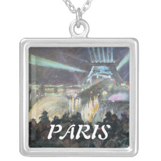 Paris Night Fred Money Painting Necklace