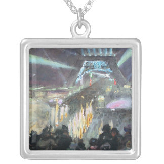 Paris Night Fred Money Painting Necklaces