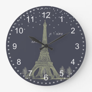 Paris Night Large Clock