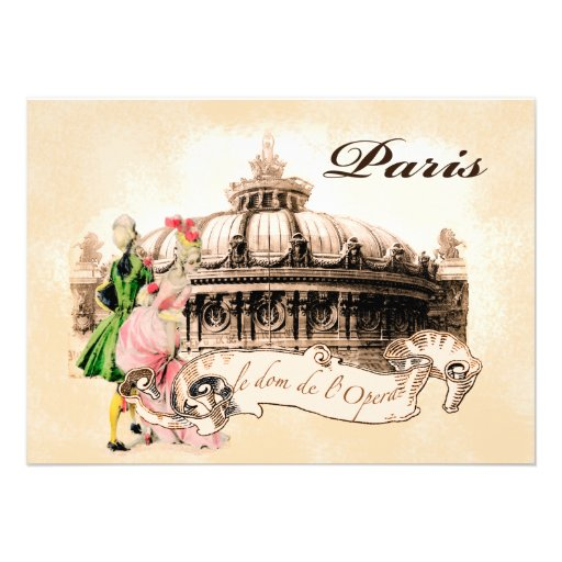 Paris Opera & Vintage French Couple Invites