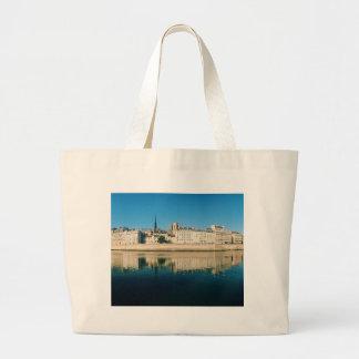Paris Panorama - Ile Saint Louis Large Tote Bag