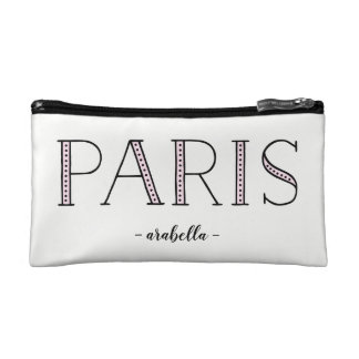 Paris Paris Paris | Blush Pink French Inspired Cosmetic Bag