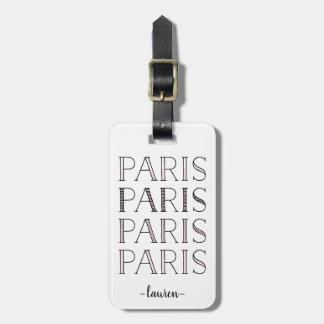 Paris Paris Paris | Blush Pink French Inspired Luggage Tag