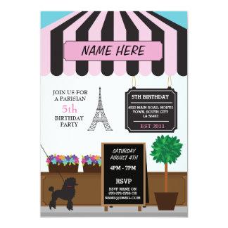 Paris Parisian Cafe Any Age Birthday Party Invite