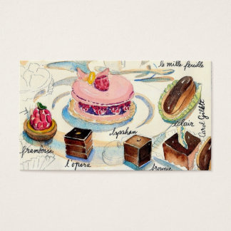 Paris Pastries Business Card